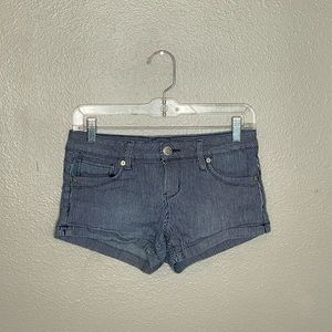 Guess Blue White Striped Denim Shorts Size 26